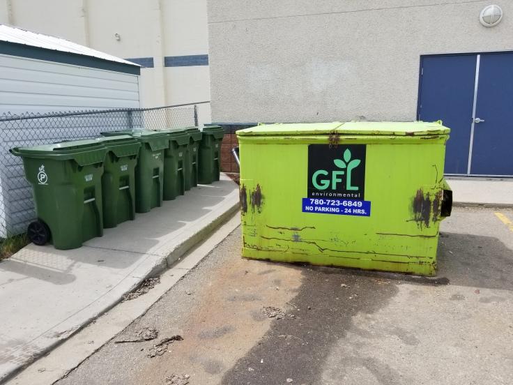 Dumpster vs organics carts